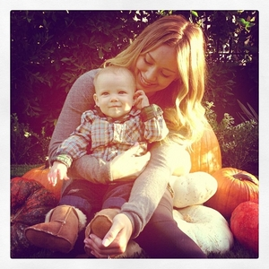 Hilary Duff and her sweet child
