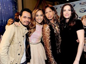 Jennifer Lopez, Marc Anthony,Liv Tyler and Steve Tyler